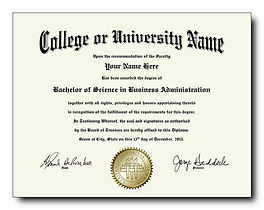 Bring your original college degree.