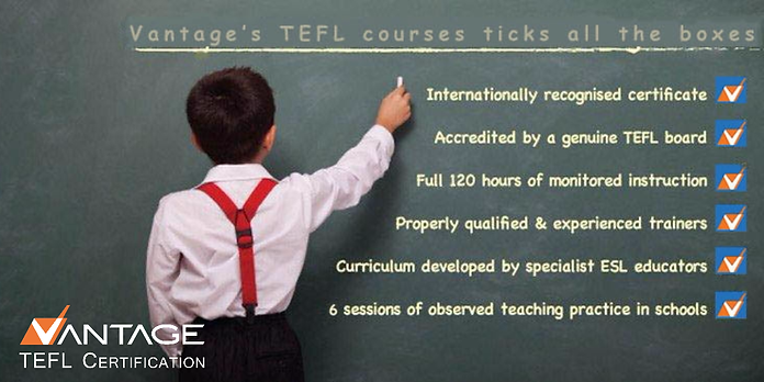 Accredited and Top Rated Vantage TELF courses
