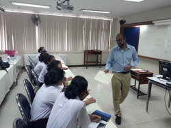 A practice teaching session