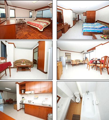 Sample rooms at Bangkok's Poonchock Mansions