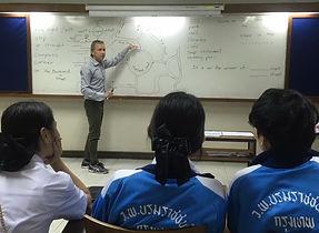 James in TEFL practice teaching