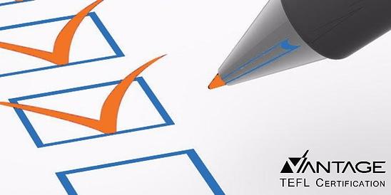 Vantage TEFL course requirements