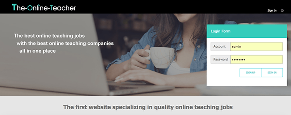 The Online Teacher: the first webstie specializing in quality online teaching jobs.