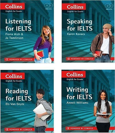 Collins Reading Listening Speaking Writing for IELTS book series