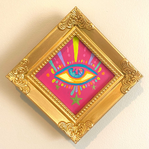 Evil Eye Painting (PINK #3) Diamond 2.0