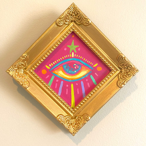Evil Eye Painting (PINK #5) Diamond 2.0