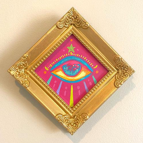 Evil Eye Painting (PINK #7) Diamond 2.0