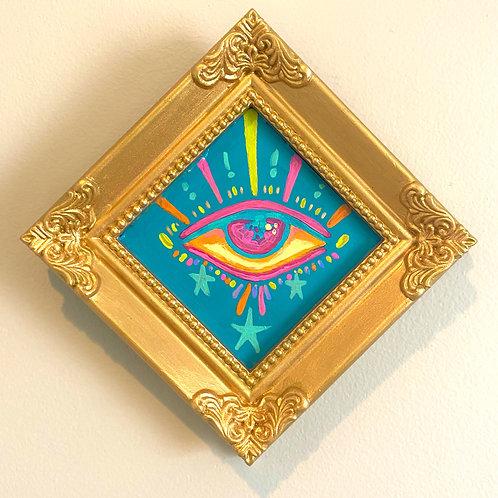 Evil Eye Painting (BLUE #6) Diamond 2.0
