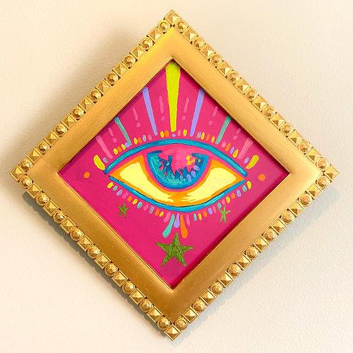 Evil Eye Painting (PINK #9) Diamond 2.0