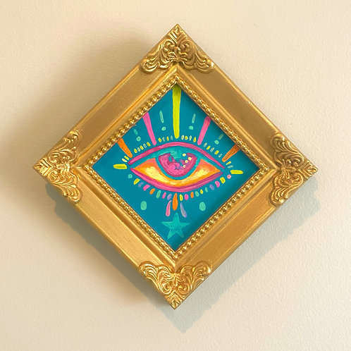 Evil Eye Painting (BLUE #1) Diamond 2.0