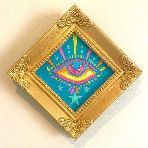 Evil Eye Painting (BLUE #4) Diamond 2.0