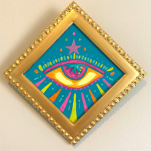 Evil Eye Painting (BLUE #8) Diamond 2.0