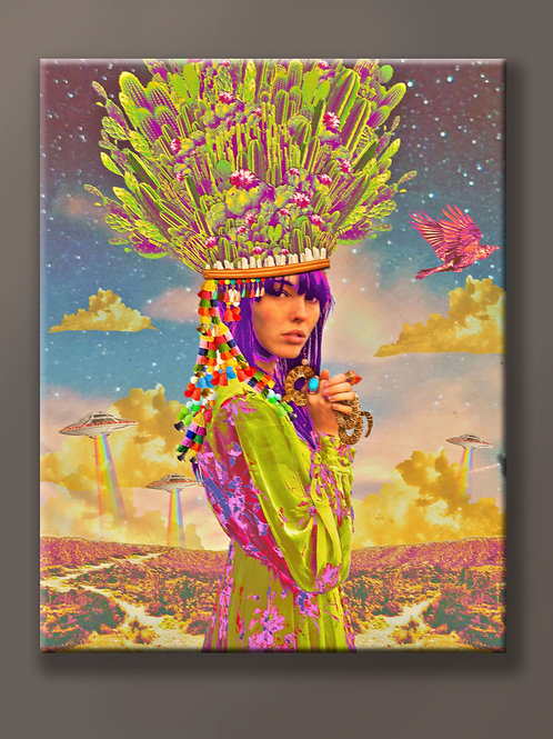 """""""The Visitation"""" 8x10 Limited Edition Wood Panel & Resin Collage"""