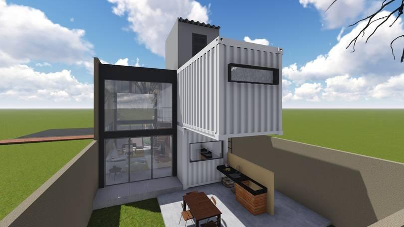 3D casa container