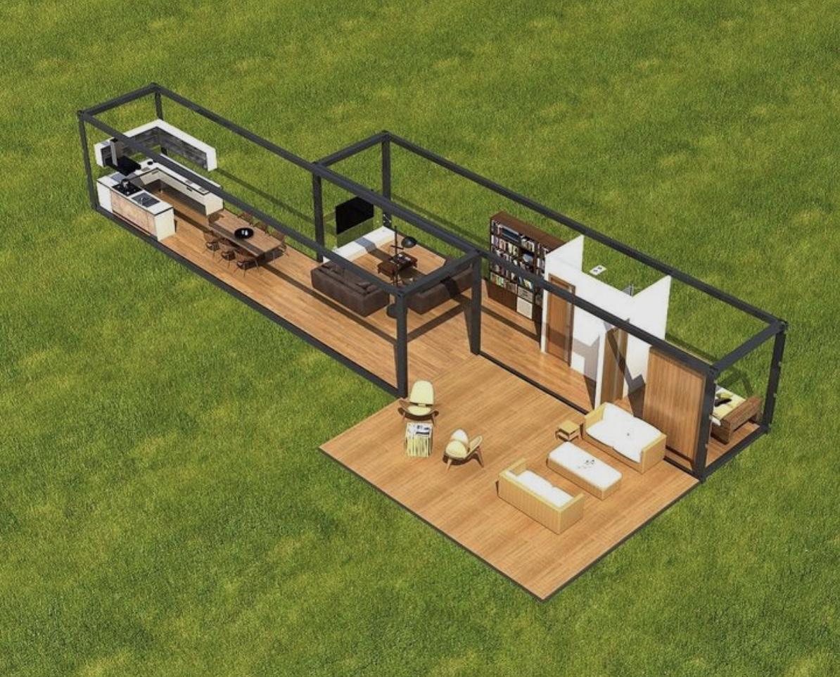 Casa Container 60m2 - Deck 42m²