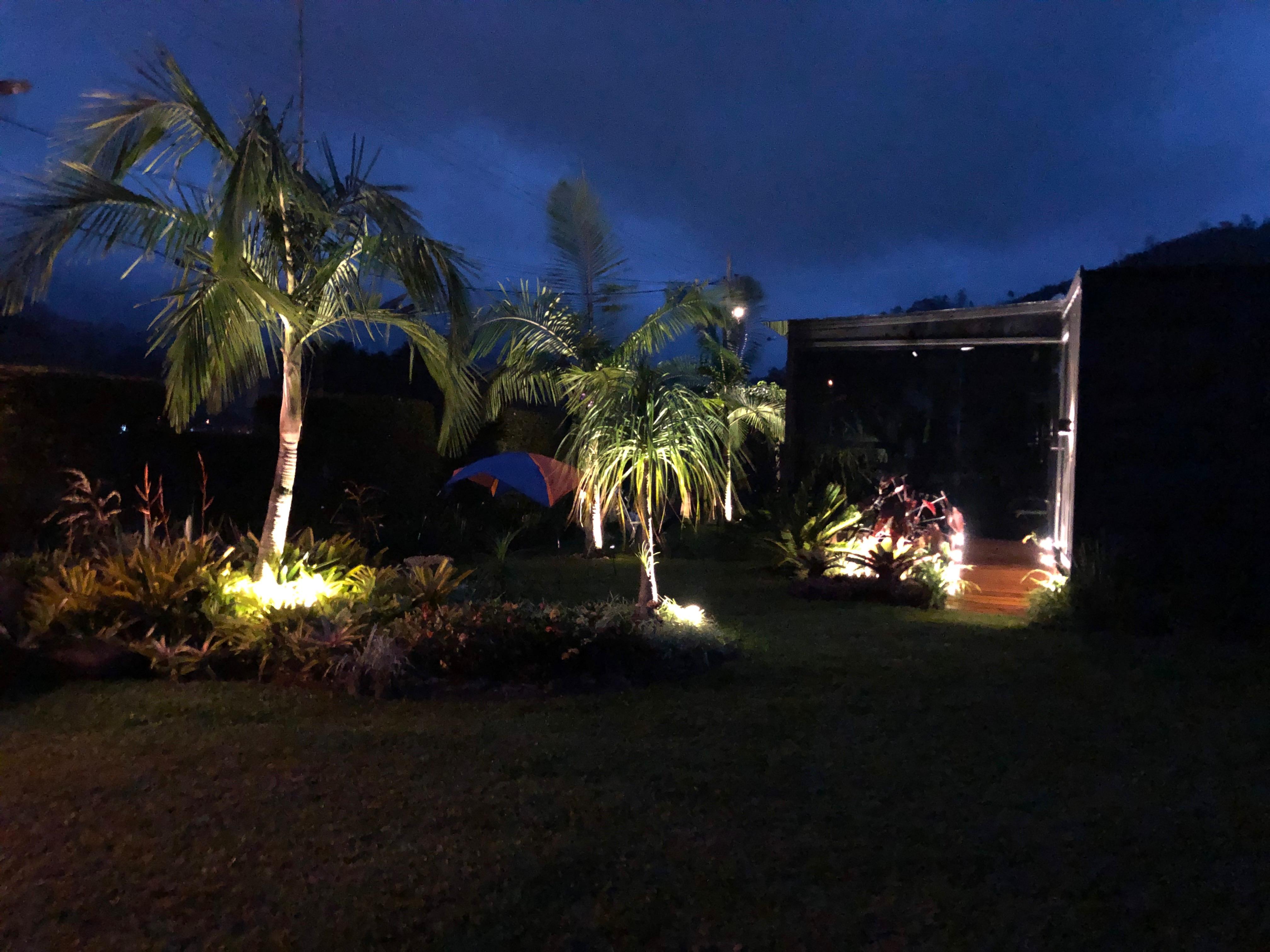 iluminação paisagismo