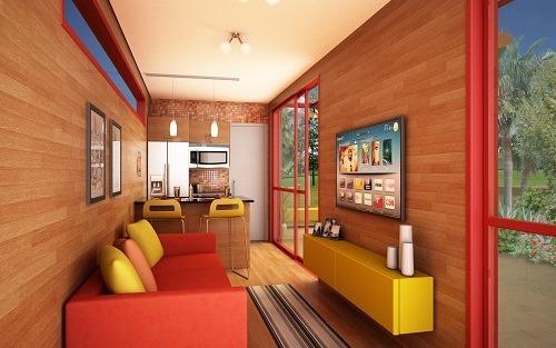 Interior 40 pés - acabamento luxo