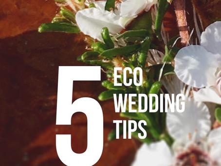 5 eco wedding tips