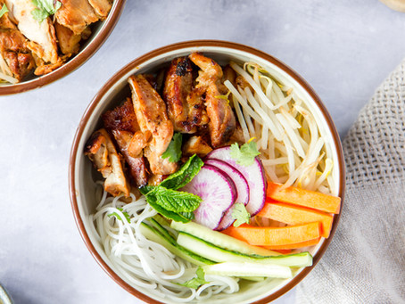 Vietnamese Bun Bowl with Lemongrass Chicken