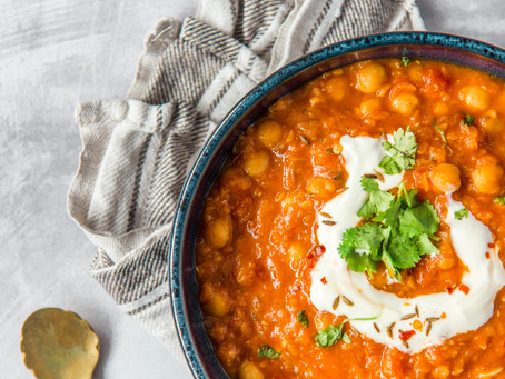 Spiced Lentil & Chickpea Soup