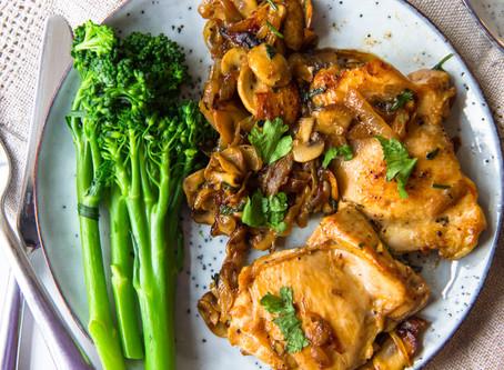 One-pan Chicken, Mushroom & Onions