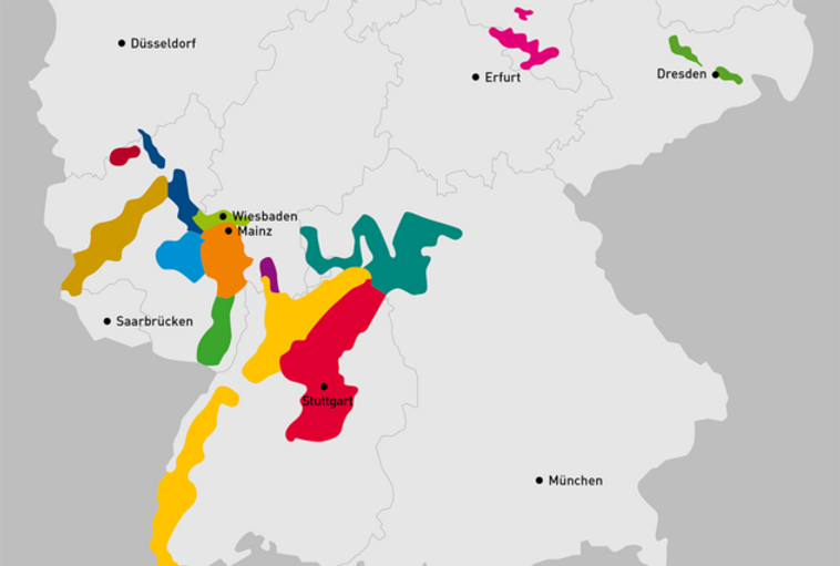 Deutsche Weinanbaugebiete im Überblick