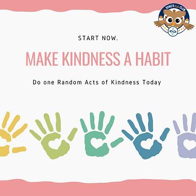 Pastel Handprint Random Acts of Kindness