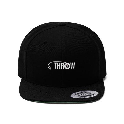 Unisex Flat Bill Hat- Throw