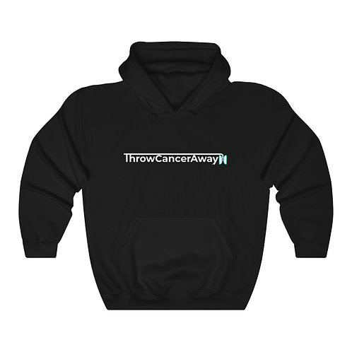 Unisex Heavy Blend™ Hooded Sweatshirt- Throw Cancer Away