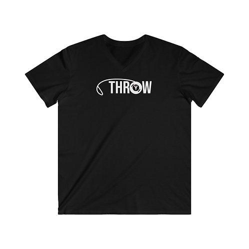 Men's Fitted V-Neck Short Sleeve Tee- Throw