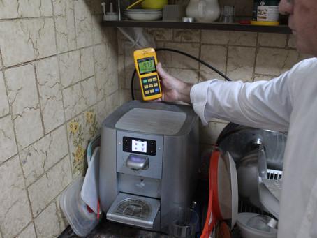 מטבח - ומוצרי החשמל שבו  מדידות קרינה