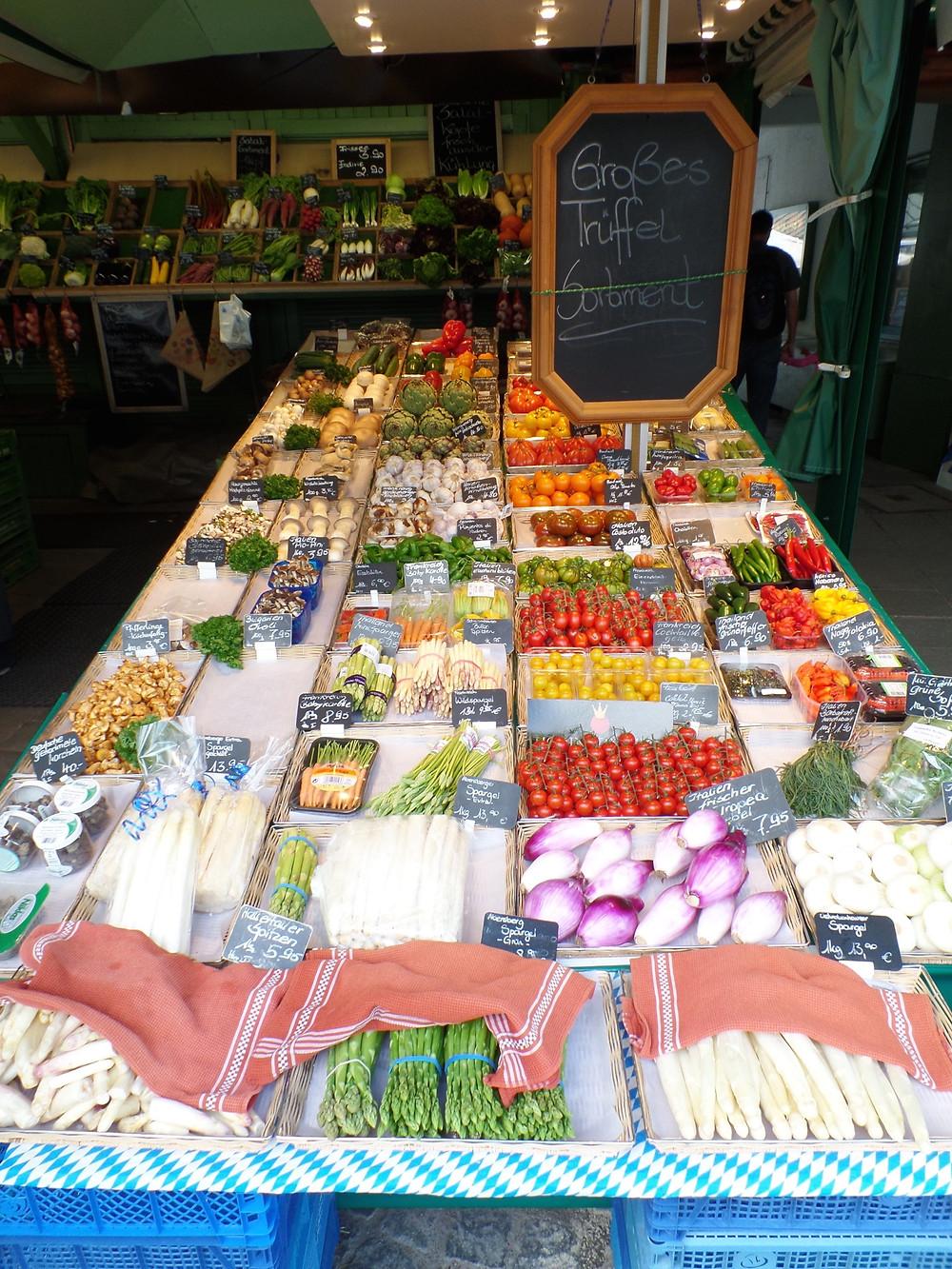 Market in Munich, Germany