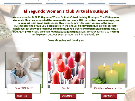 El Segundo Woman's Club Hosts Online Holiday Boutique