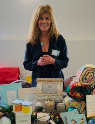 Kelly Burner with items from her shop