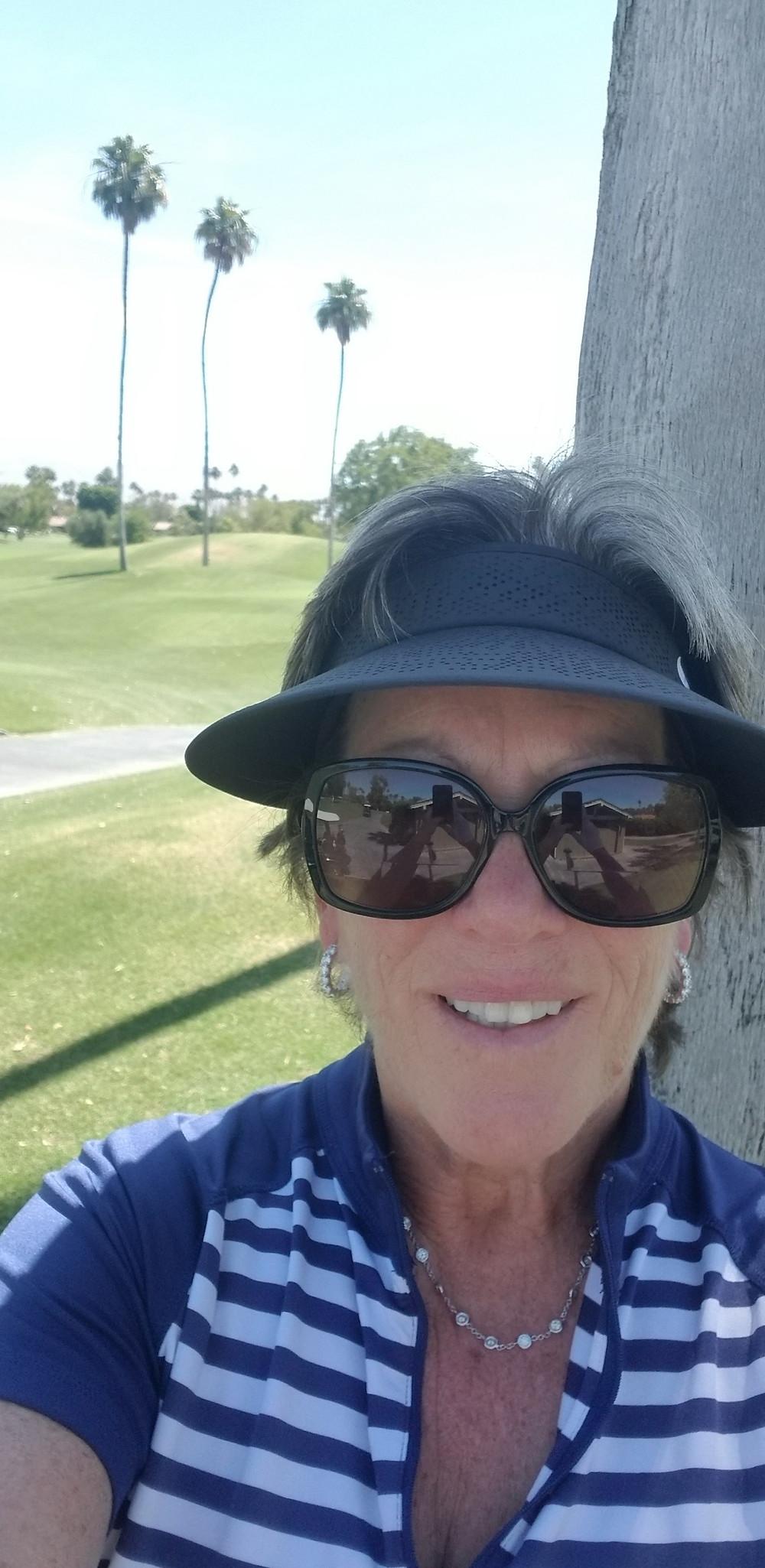 Brenda Newman on a golf course in California