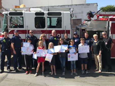 Fire-Prevention Week Poster Winners Honored