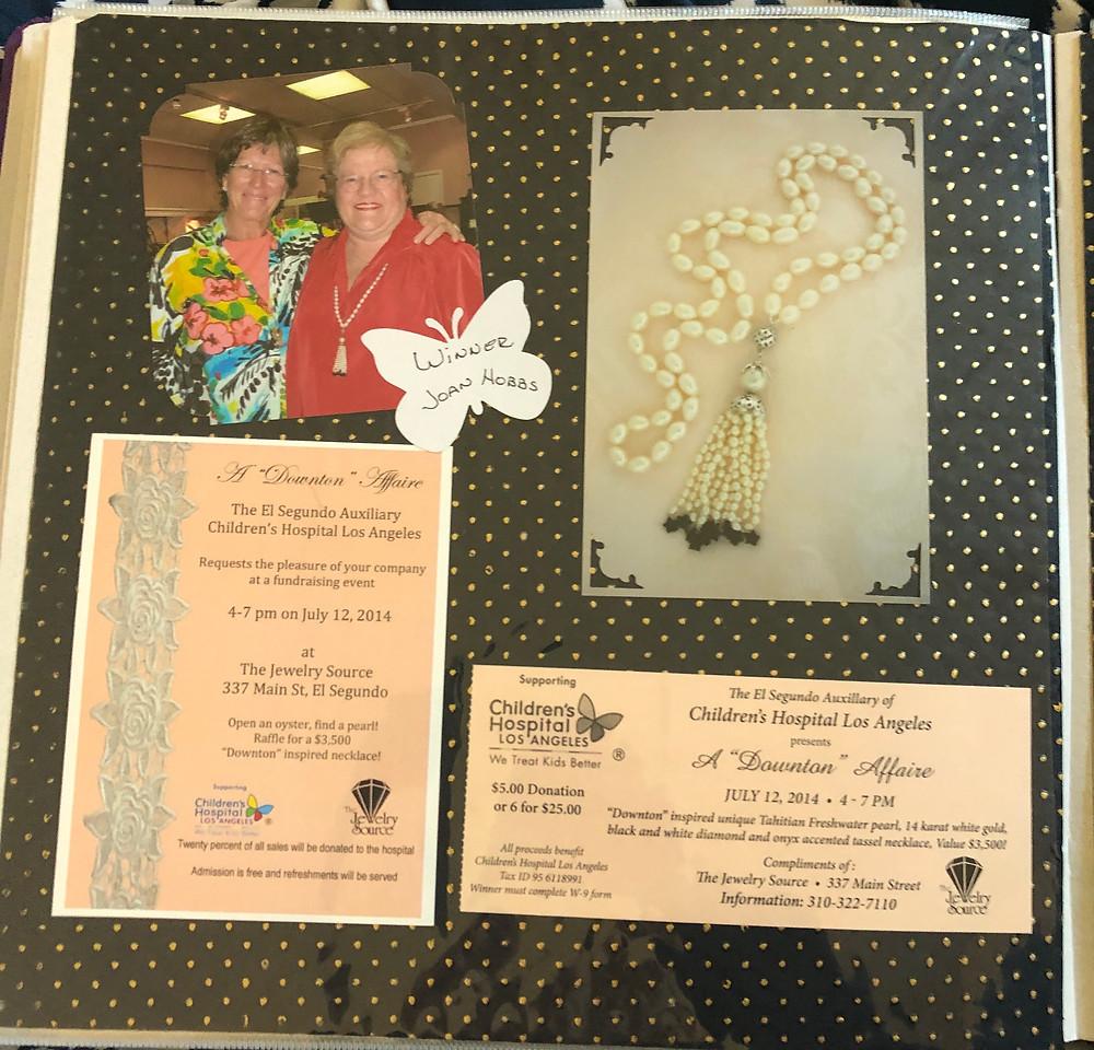 photos, ticket stubs, memorabilia on a scrapbook page