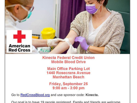 Local Blood Drive Tomorrow