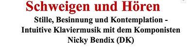 Schweigen und Hören, Nicky Bendix