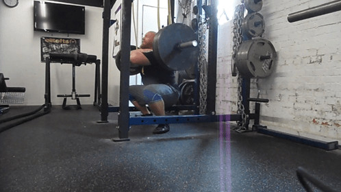 405 front squat during rehab at Raleigh Barbell.
