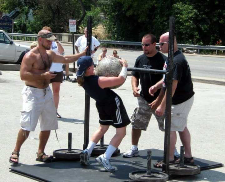 My first strongman competition when I couldn't load a 135 lb stone.