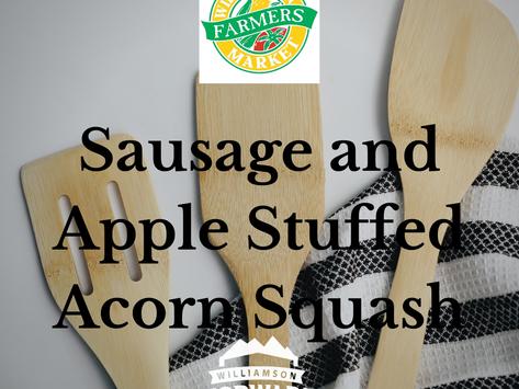 #FallRecipe: Sausage and Apple Stuffed Acorn Squash