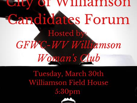 2021 City of Williamson Candidates Forum