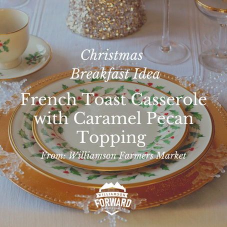 Christmas Breakfast Idea: French Toast Casserole with Caramel Pecan Topping
