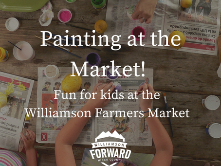 Painting at the Market: Fun for Kids at the   Williamson Farmers Market