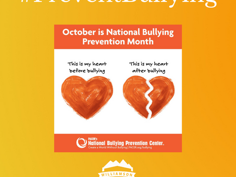 October is #BullyingPreventionMonth