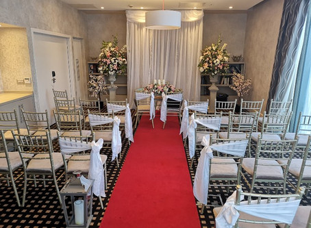 The Library Room at The Limerick Strand Hotel. Perfect small wedding venue