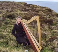 Harpist at Outdoor Humanist Wedding