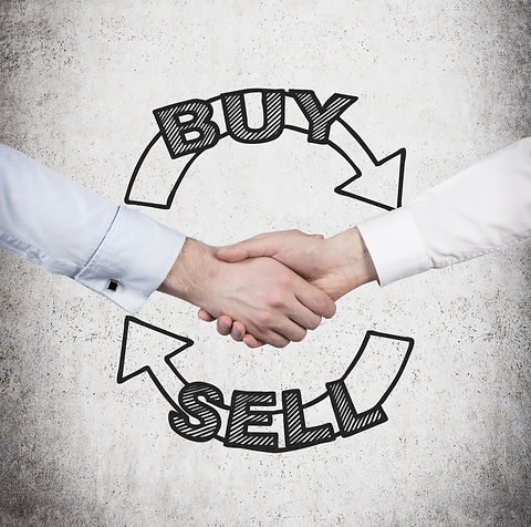 Handshake and a choice to 'sell or buy'.