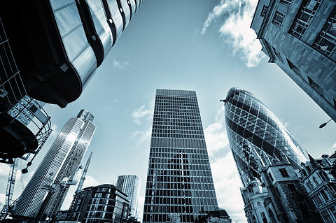 Skyline of  City of London,( Lloyds of L